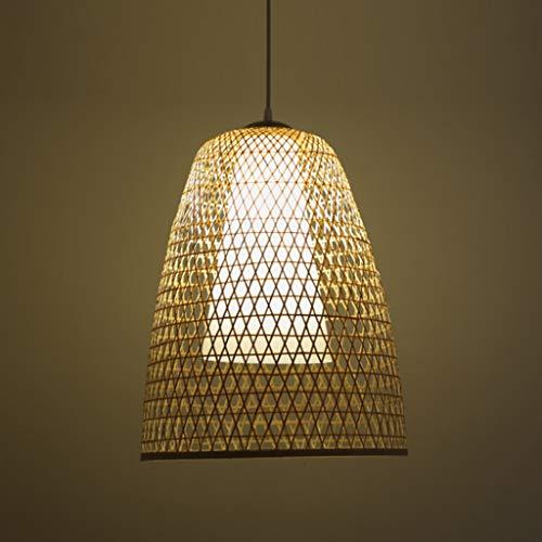 Lámpara de luz colgante de bambú Lámpara colgante de mimbre ligero Lámpara colgante de mimbre de bambú Lámparas Art Deco Candelabro Candelabro de ratán vintage