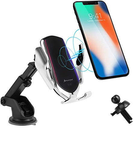 Wireless Car Charger,10W Qi Fast Charging Auto-Clamping Car Mount Dash Air Vent Phone Holder Compatible iPhone 12/12 Pro/SE/11/11Pro/11Pro Max/XS Max/XS/XR/X/8, Samsung S10/S9/Note10/Note9, LG, Pixel