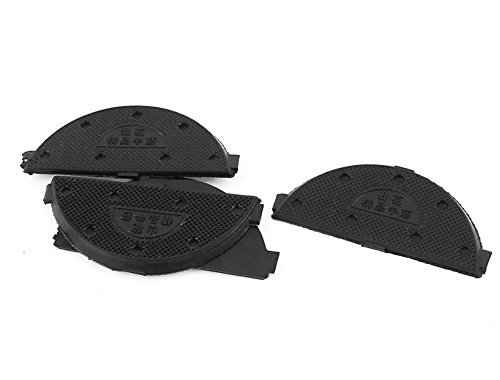 sourcing map Gummi-Anti-Rutsch-Schuhe Sohle Fersenschutz Platten Reparatur Wasserhähne 2 Paar schwarz