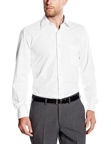 BlueBlack Herren Regular Fit Business Hemd Valerio, langarm, bügelfrei, Gr. Kragenweite: 48, Weiß (weiß 1)