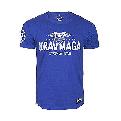 Thumbs Down Krav MAGA T-Shirt. Israel System. 67th Combat DVSN. MMA. Kampfkünste. Gym. Training. Martial Arts. Casual (Größe Medium)