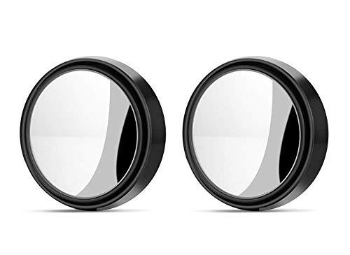 Rmeet Espejo De Punto Ciego,2 Pack Espejo Convexo 360 Gran Angular Ajustable Redonda HD Espejo Retrovisor Universal Coche Retrovisores de Ángulo para Todos los Autos