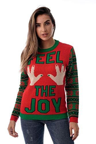 #followme Womens Ugly Christmas Sweater - Sweaters for Women 6773-223-M