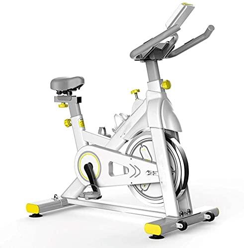 Qjkmgd Bicicleta de ejercicio interior, entrenador de bicicletas Resistencia magnética de control magnético ultra tranquilo Pantalla LCD con soporte de computadora de tableta Adecuado para ejercicio d