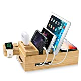 Wireless Charging Station-6 in 1 for Multiple Devices,Built-in Adapater, Qi-Certified Wireless Charger for Phone, ZEROELEC 6 USB Ports Compatible with Phone,Earbuds, Watch