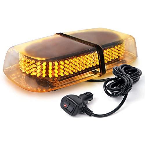LIUDOU 240LED Autodach Warnlicht 12V wasserdichtes Blitzwarnlicht mit Doppelschalter Zigarettenanzünder Kabelblitzmodus 24W Dach LED Notlichtblitze,Gelb