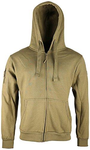 Kombat Tactical T-Shirt à Capuche pour Homme, Coyote, Medium = Chest 38-40 inch