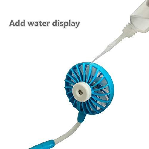 Hotpink1 USB-Ventilator zum Aufhängen, Luftbefeuchter, Mini-Ventilator mit buntem Licht
