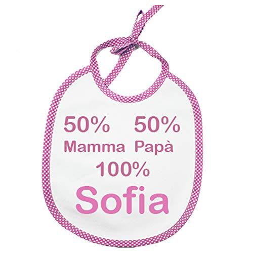 Bavetto bavaglino neonato personalizzato con nome bavaglino cm.20x26 PERSONALIZZATI Made in Italy -INDICA IL NOME NELL'APPOSITO SPAZIO CONSEGNA TEMPESTIVA (ROSA)