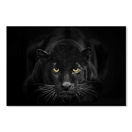 HCOZY Print Painting Canvas, 5 Pieces Black Panther Canvas Wall Art Painting for Home