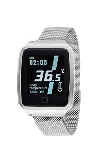 Reloj NOWLEY SMARTWATCH Unisex Control Temperatura Pulsera Acero