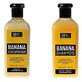XHC Cuidado del cabello Banana Champú y Acondicionador 400m