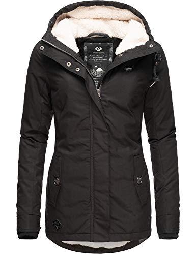 Ragwear Damen Winterparka Winterjacke Monade Schwarz019 Gr. XL