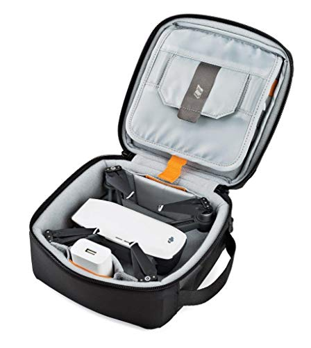 Lowepro LP36915 ViewPoint CS 40 - A Soft-Sided Protective Case for a Smartphone, GoPro or 360 Camera and Accessories… 4 Smart interior organization includes adjustable dividers, three with a built-in pockets to stash a backdoor, filter or remote (and keep it from scratching camera); plus a roomy zippered pocket for cables, backdoors, mounts, tools, manuals, etc.; top panel with built-in memory pockets; plus a padded panel with stretching webbing straps to organize and secure cables and mounts Super-portable design makes it easy to carry in a larger bag or carry by the grab handle. Exterior webbing straps provide extra carry and attach options.