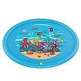 AIOJY Splash Pad, Sprinkle und Splash Mat Wasserspiel Spielzeug für Kinder Kleinkinder Outdoor Spray Wasser Pad Aufblasbare Kinder Baby Pool Pad Sommerspaß Strand Outdoor Rasen Sprinkler Kissen für Ba