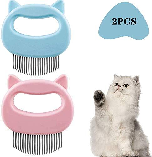 HIQE-FL Massagekamm für Haustier Katzen,Haustierbürste Langhaar,Katzenkamm für...