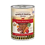 Whole Earth Farms Grain Free All Breed All Life Stages Wet Dog Food Hearty Beef Stew (12) 12.7 oz Cans