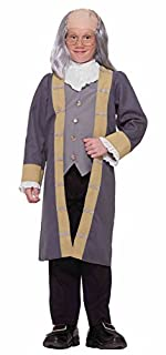 Forum Novelties 77746 Kids Ben Franklin Costume, X-Large, Grey/White, Pack of 1 (B06W576VH7) | Amazon price tracker / tracking, Amazon price history charts, Amazon price watches, Amazon price drop alerts