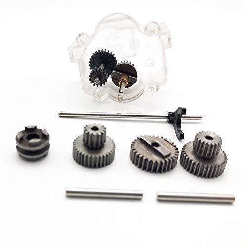 TOOGOO 1 Satz Metall Getriebe mit 370 Motoren für WPL Gang Wechsel Getriebe für B1 B24 B16 B36 C24 1/16 4WD 6WD Rc Auto, B