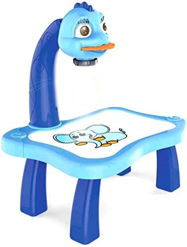 FENGLI Juego de mesa de dibujo para niños, proyector de pintura, juego de dibujo con 4 discos de fotos diferentes, 8 bolígrafos de color, juguetes de educación temprana, regalo para niños (color: A)
