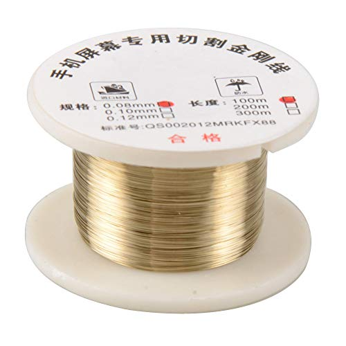 100m / roll 0.08mm Alloy Molybdeen Cutting Wire Line LCD-scherm Separator Repair Voor Smart Phone