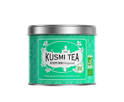 Kusmi Tea - Wellness-Tee Expure Original - Mischung mit Mate, grünem Tee und Zitronengras, aromatisiert - Zitrone - Metalldose (100 g), Ergibt ca. 40 Tassen
