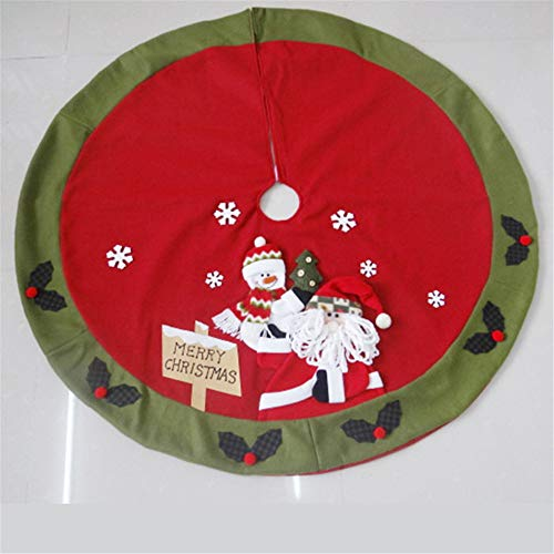 LYFWL Sneeuwman Kerstmis Ornamenten Kerstman Kerstboom Rok Boom Decoraties Kerstboom Rok Doek Aprons A
