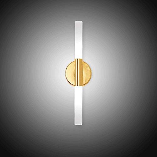 LED Eisen Wandleuchten, Nordic Schwarz/Gold Acryl Lampe Wohnzimmer Studie Schlafzimmer Wandlampen Kreative Esstisch Cafe Flur Wandleuchte (Color : Gold)