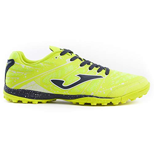 Joma Soccer Shoes Super REGATE Turf 906 Yellow Fluo