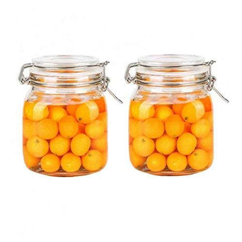AMOYER 2ST 1000ml Platz Durch Vorratstank Glas Sealed Storage Jar Can Nahrungsmittelbehälter