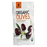 Gaea Organic Snack Pack Pitted Kalamata Olives with Sea Salt and Vinegar - 2.3 oz (Pack of 8) …