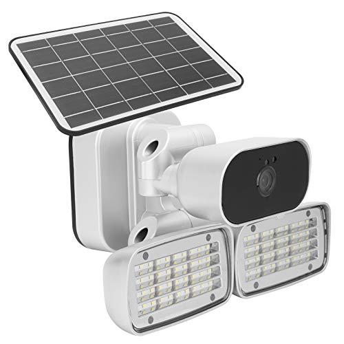 Cámara Solar de Alta definición 1080P Conexión de múltiples Dispositivos 4G Monitor de Patio de detección de Movimiento de 160 Luces para Seguridad de Patio(American Version)