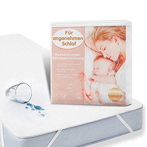 MUHOO wasserdichte Matratzenauflage Inkontinenz Matratzenschoner Anti-Allergisch Bettunterlage 100 x 200 cm