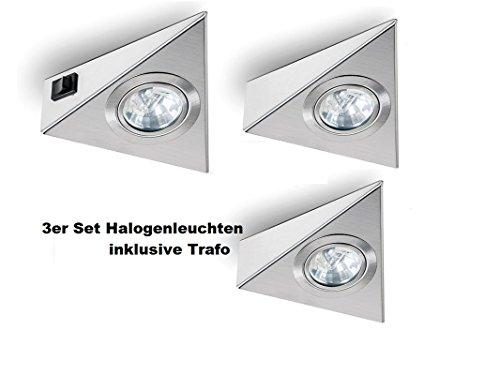 Naber Triplo Halogenstrahler Dreieckleuchte 3 x 20 Watt