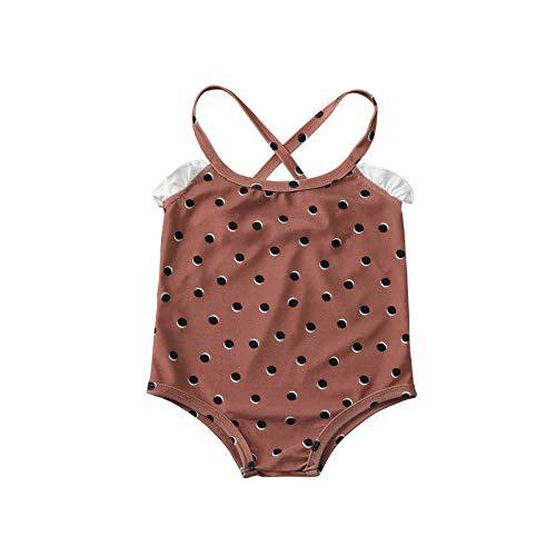 YANFANG Traje de baño Ropa de Playa Mameluco de Lunares para bebés y niñas para niños pequeñosde Playa