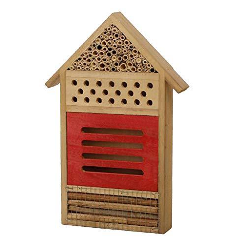 joyMerit Insektenhaus Insektenhotel-Bausatz, Nisthilfe und Schutz für Nützlinge (Insektenhaus Bausatz) - Rot