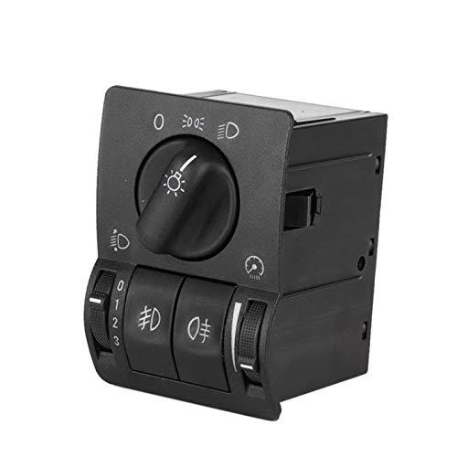 Mrwzq Interruptor de la ventana del lado del conductor Ajuste Para la luz del faro antiniebla de la luz principal interruptor de control de ajuste para OPEL Astra G 99-08 6240097 Accesorios del coche