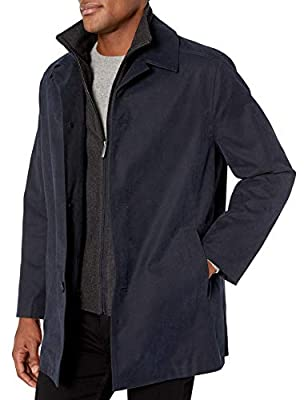 LONDON FOG Men's Berne Micro Twill All Weather Coat, Dark Navy, Medium from London Fog