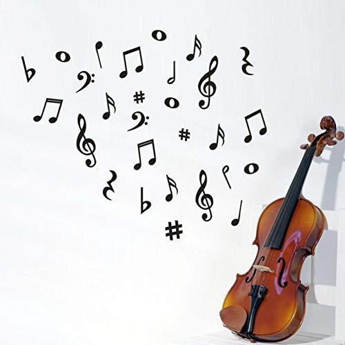 SXRAI Wandaufkleber Wandaufkleber Musik Noten Entfernbare Wandaufkleber Klassenzimmer Kindergarten Schule Klavier Dekoration 60 cm X 70 cm,C1
