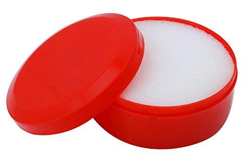 Plastic Round Case Sponge Finger Wet for Counting Cash Money red//blue//Green