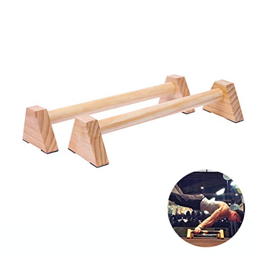 DYJD Houten Parallel Bars, Push-Up Bars, Side by Side, 2 Pine Bars, Geschikt voor Push-Ups, Aerobics, Gymnastiek, Fitness Training