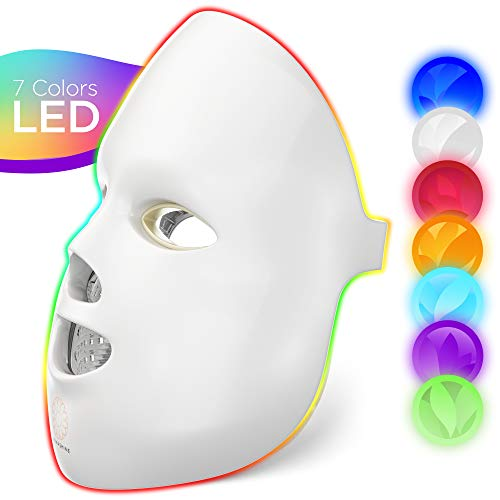 Dermashine Pro 7 Color LED Mask for Face | Photon Red Light For Healthy Skin Rejuvenation Therapy |...