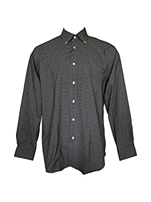 Nautica Men's Performance Active Stretch Long-Sleeve Wrinkle Free Wicking Button Down Shirt Casual Dress Shirts