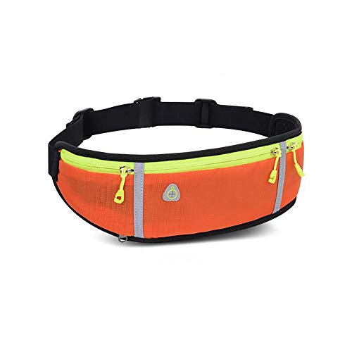 Fealay Professional Outdoor Running Bag, Phone Anti-Theft Running Belt Waist Bags for Men Women Gym with Water Bottle (Color : Orange)