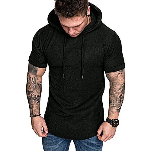 SSBZYES Camiseta De Verano para Hombre Camiseta De Manga Corta para Hombre Código Europeo De Moda Camiseta Casual De Manga Corta para Hombre Camisa De Fondo con Capucha Top Casual para Hombre
