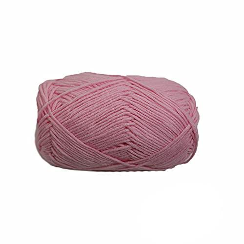 DealMux - 1 pieza de hilo grueso de lana para tejer a mano, hilos gruesos acrílicos, suaves y...