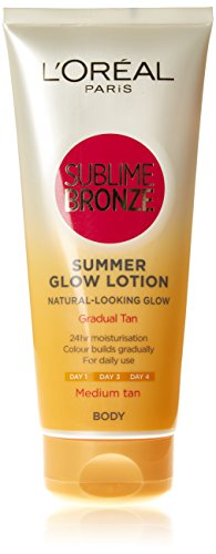 L'Oreal Paris Sublime - Lozione autoabbronzante per il corpo, Medium, 200 ml