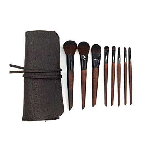 Miyaer Sets De Pinceaux De Maquillage 8pcs Cosmétique Brush Brosse De Maquillage Beauté Maquillage Brosse Makeup Brushes avec Trousse De Toilette Like-Minded