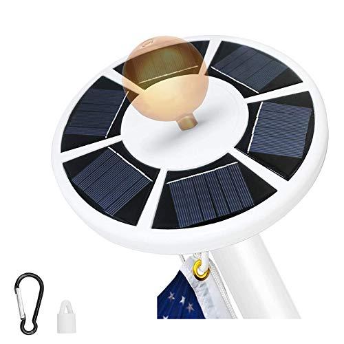 XINRISHENG Solar Flag Pole Light 42 LED della Tenda Impermeabile da Incasso Luce di Emergenza Bandiera 15Ft-25ft palo della Lampada Auto On off Notte Illuminazione