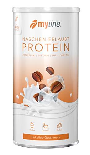 myline Protein Eiskaffee - hochwertiges Proteinpulver inkl. Rezeptheft, Verpackungseinheit: 400g Dose